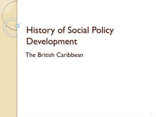 History of Social Policy Development