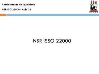 NBR ISSO 22000