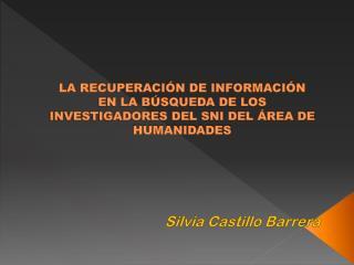Silvia Castillo Barrera