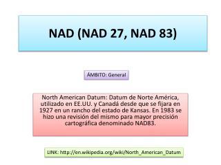 NAD (NAD 27, NAD 83)