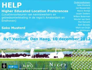 RvT VerDuS , Den Haag, 10  december  2012
