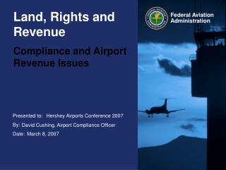 Land, Rights and Revenue