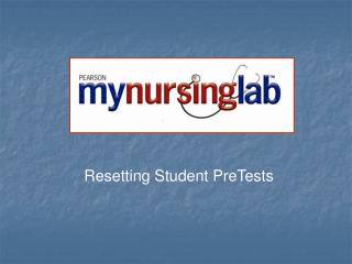 Resetting Student PreTests