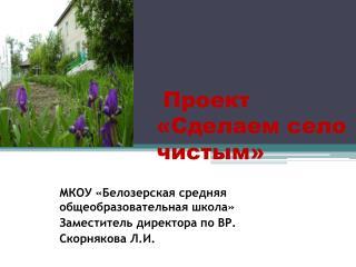 Проект «Сделаем село чистым»