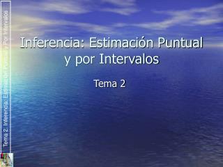 Inferencia: Estimación Puntual y por Intervalos