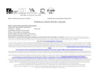 Název šablony: Inovace ve fyzice52/F22/18.3.2013,Slabá Janoutová