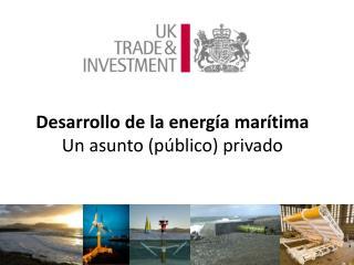 Desarrollo  de la  energía marítima Un  asunto  ( público )  privado