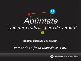 Por: Carlos Alfredo Mansilla M. PhD.