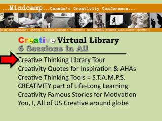 Creative Thinking Library Tour