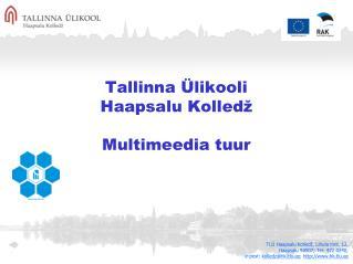 Tallinna Ülikooli Haapsalu Kolledž Multimeedia tuur