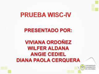 PRUEBA WISC-IV