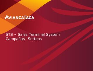 STS – Sales Terminal System  Campañas- Sorteos