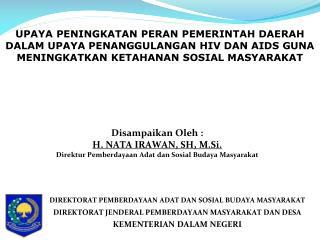 DIREKT ORAT PEMBERDAYAAN ADAT DAN SOSIAL BUDAYA  MASYARAKAT
