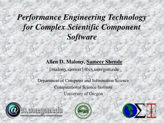 Performance Engineering Technology for Complex Scientific Component Software