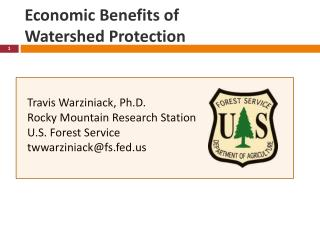 Economic Benefits of  Watershed Protection