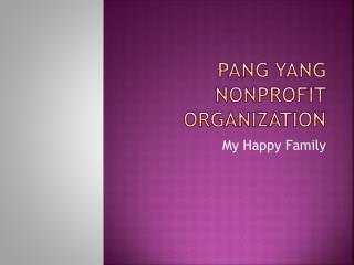 Pang Yang  Nonprofit Organization