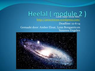 Heelal  ( module 2 )