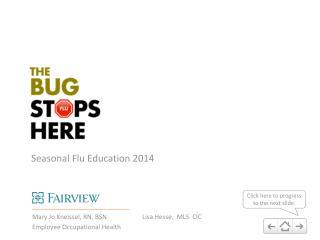 Seasonal Flu Education 2014