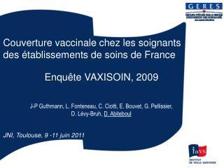 Couverture vaccinale chez les soignants des établissements de soins de France