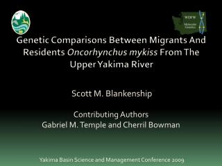 Scott M. Blankenship Contributing Authors Gabriel M. Temple and Cherril Bowman