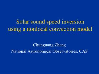 Solar sound speed inversion  using a nonlocal convection model