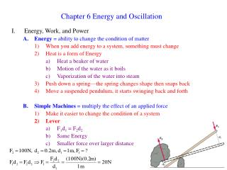 Chapter 6 Energy and Oscillation
