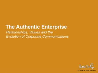 The Authentic Enterprise