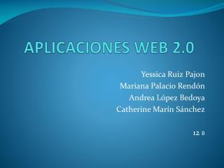 APLICACIONES WEB 2.0
