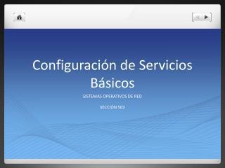 Configuraci ón de Servicios Básicos