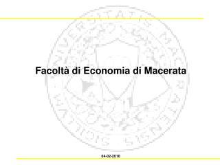 Facoltà di Economia di Macerata