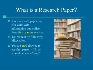 What is a Research Paper ?