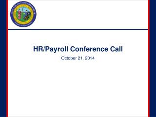 HR/Payroll Conference Call