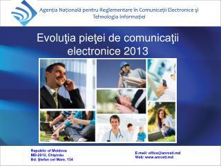 Agenţia Naţională pentru Reglementare în Comunicaţii Electronice şi Tehnologia Informaţie i