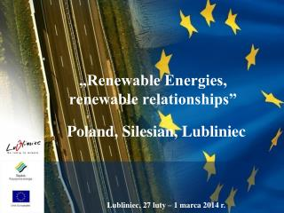 """Renewable Energies,  renewable relationships"""