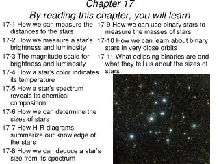 Chapter 17 By reading this chapter, you will learn