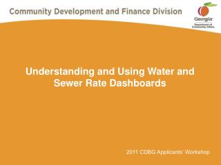 Understanding and Using Water and Sewer Rate Dashboards