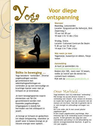 Wanneer Maandag, Leeuwarden  Locatie: Zorgcentrum De Hofwijck, Dirk Zeperweg 2 19 uur tot 20 uur