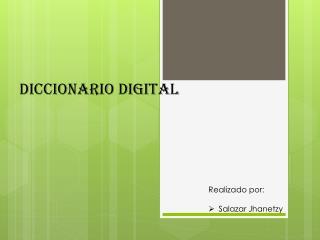 Diccionario digital