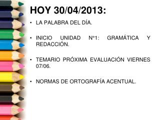HOY 30/04/2013: