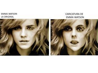 CARICATURA DE  EMMA WATSON