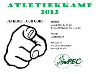 ATLETIEKKAMP  2012