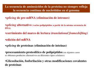 Glicosilación, fosforilación y otras modificaciones covalentes de proteínas