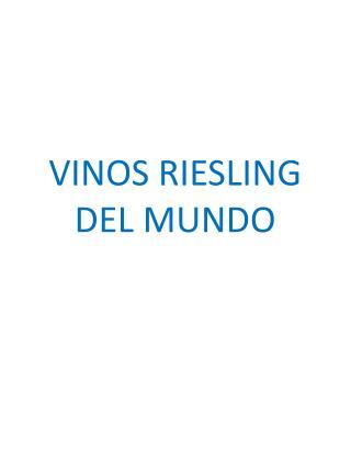 VINOS RIESLING DEL MUNDO