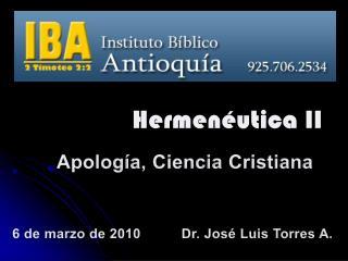 Apología ,  Ciencia  Cristiana