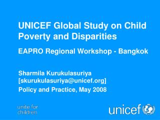 UNICEF Global Study on Child Poverty and Disparities