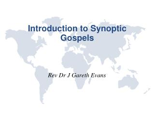 Introduction to Synoptic Gospels