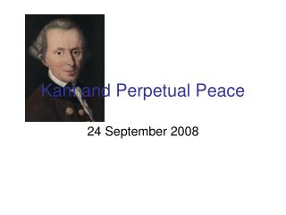 Kant and Perpetual Peace