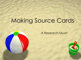 Making Source Cards