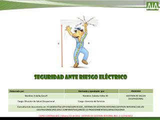 Seguridad ante Riesgo eléctrico