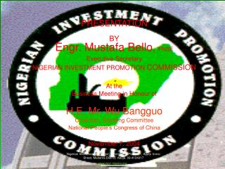 The Competitiveness of the Nigerian Investment Climate and the Opportunities Abound